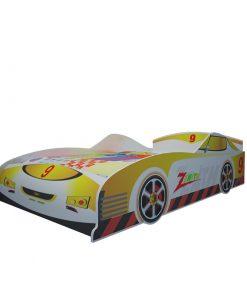 Giường ngủ trẻ em ôtô số 9 màu vàng