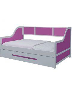 Giường tầng lùn hồng đậm