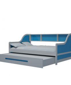 Giường tầng lùn xanh đậm