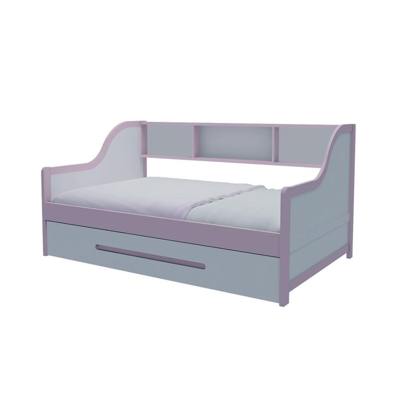 Giường tầng lùn hồng nhạt