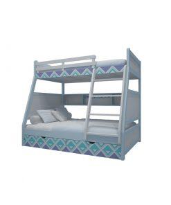 Giường tầng cầu thang không hộc kéo
